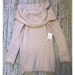 Lauren Conrad Fuzzy Cowl Neck Sweater